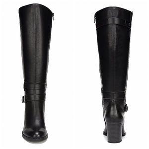Natural Soul Black Wide Calf Riding Boots Sz 9.5
